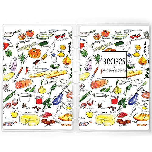 New Day Recipe Box - Disc-bound Planner Cover | Recipe Box Planner Cover