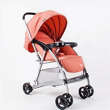 ERRU- Cochecitos livianos Cochecito de bebé ultraligero puede sentarse Sillas de paseo Cochecitos reclinables Carrito