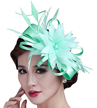 3b8990e0 Image Unavailable. Image not available for. Color: Fascigirl Sinamay  Fascinator Hat Feather ...