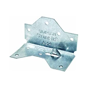 Simpson Strong Tie A34-100 18-Gauge Framing Angle (100-Per Box)