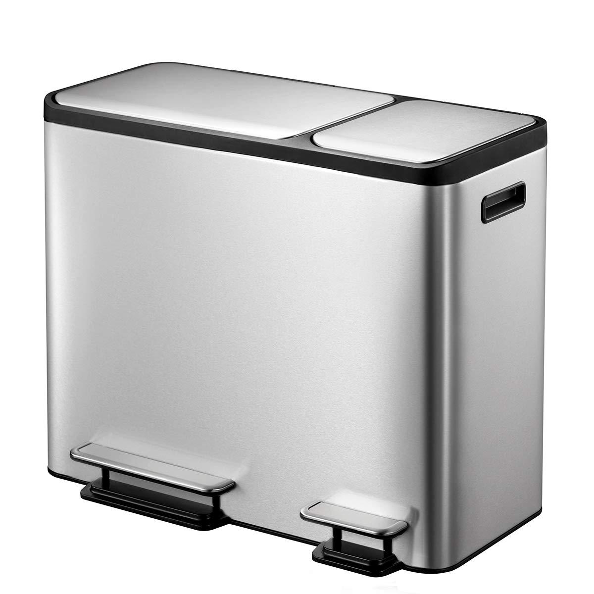 EKO Eco-Casa Kitchen Recycle Trash can, 30L + 15L EK9128MT-30L+15L