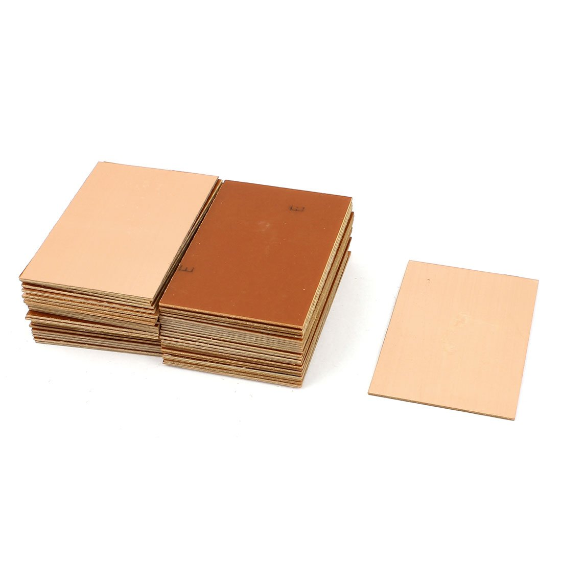 Uxcell a15071000ux0213 50 Piece 70 x 100 x 1.5 mm FR-4 Single Side Copper Clad PCB Laminate Board