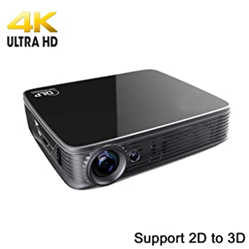 Deeirao - Proyector 4K UHD, Android5.1OS Mini DLP Home Theater ...
