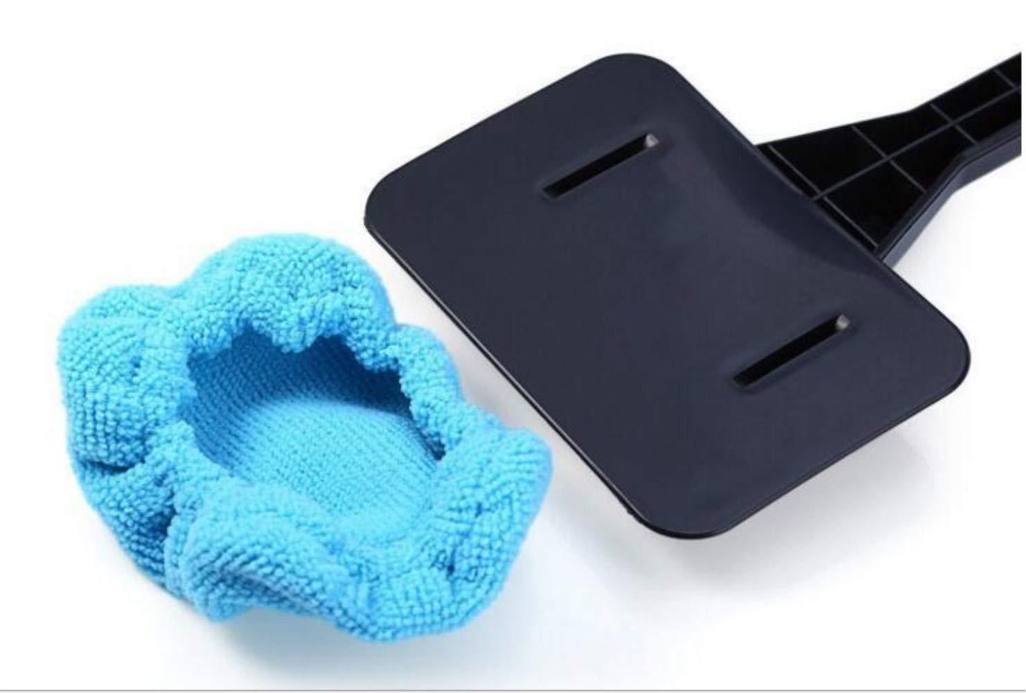 KJLM Spazzolino per la pulizia del parabrezza per auto Finestra in microfibra Raschiatore per manico nero Strumento per pulizia auto 1 confezione 2 Asciugamani rosso