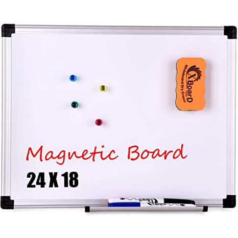 amazon com xboard reversible double sided magnetic whiteboard set