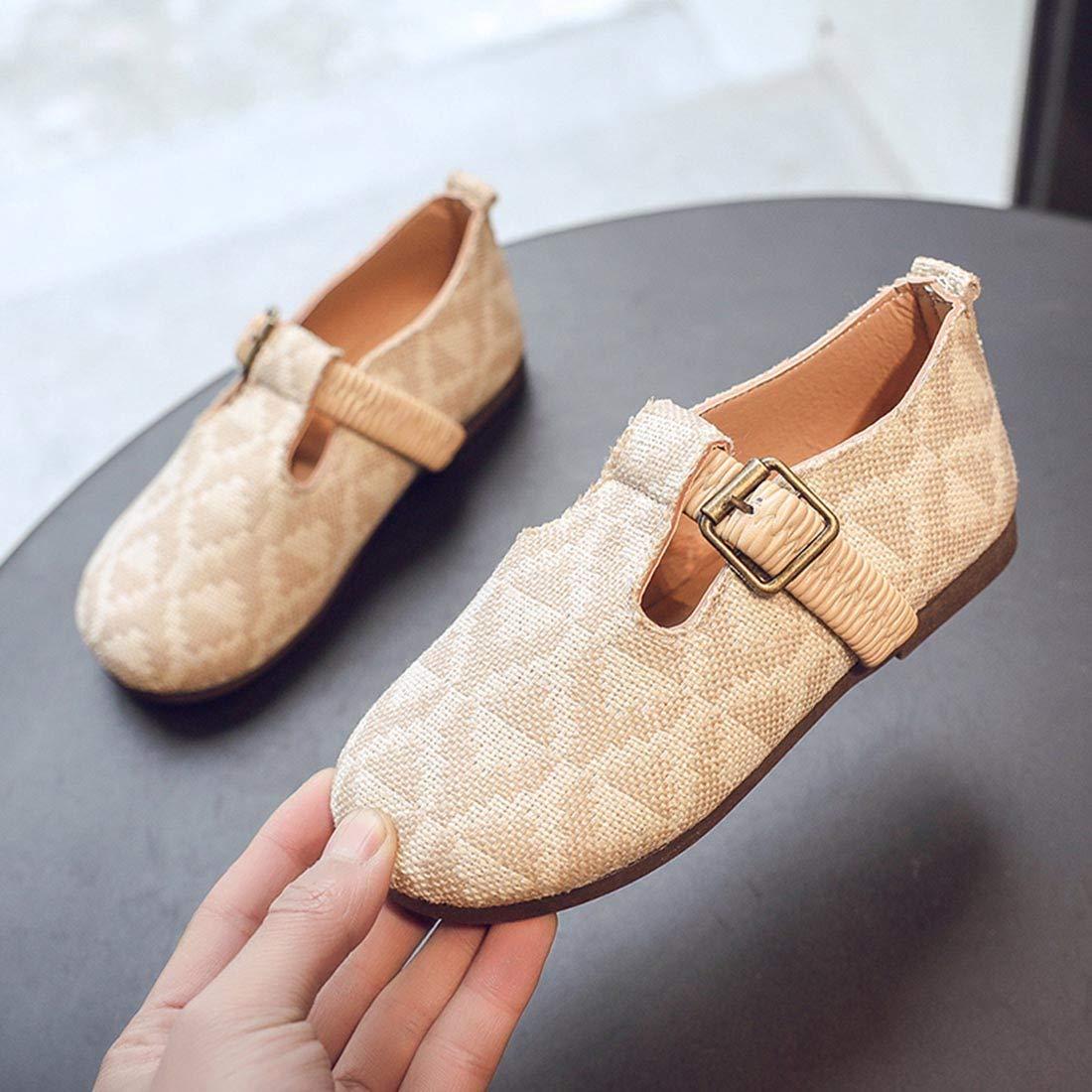 YIBLBOX Toddler Little Girls Slip On Mary Jane Ballet Flats Kids Princess Dress Shoes
