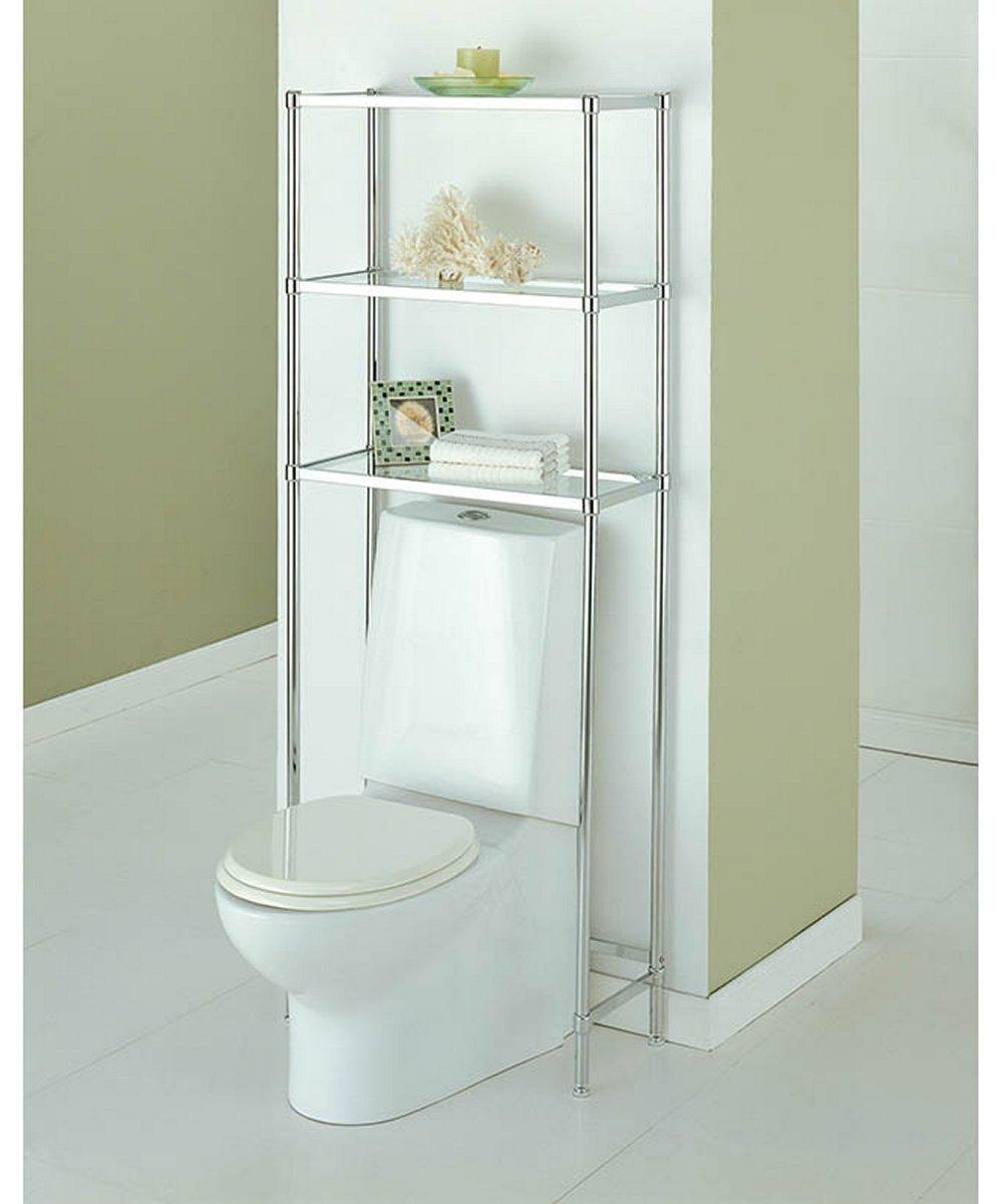 Amazon.com: Over The Toilet 16951W-1 Bathroom Spacesaver with 3 ...