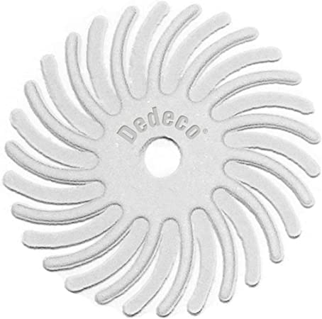 1//16 Inch Arbor Dedeco Sunburst 12 Pack 5//8 Inch TC Radial Bristle Discs Precision Thermoplastic Rotary Cleaning and Polishing Tool Extra-Fine 6 Micron