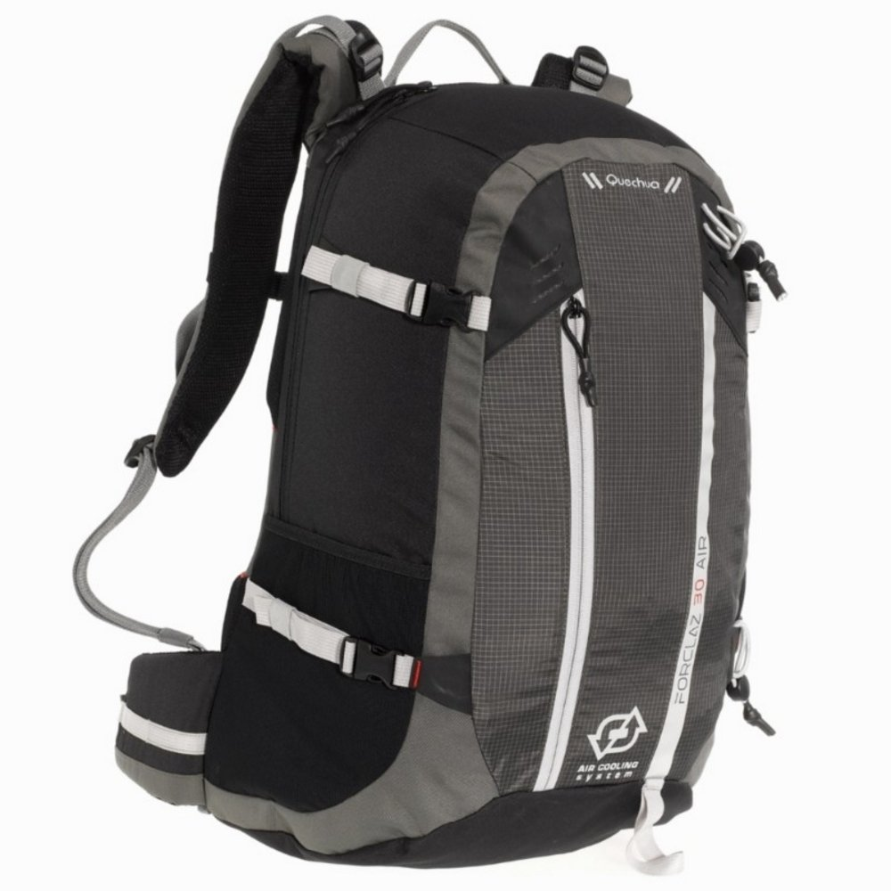 QUECHUA Decathlon FORCLAZ 30 Air Day Trekking Mochila Negro ...
