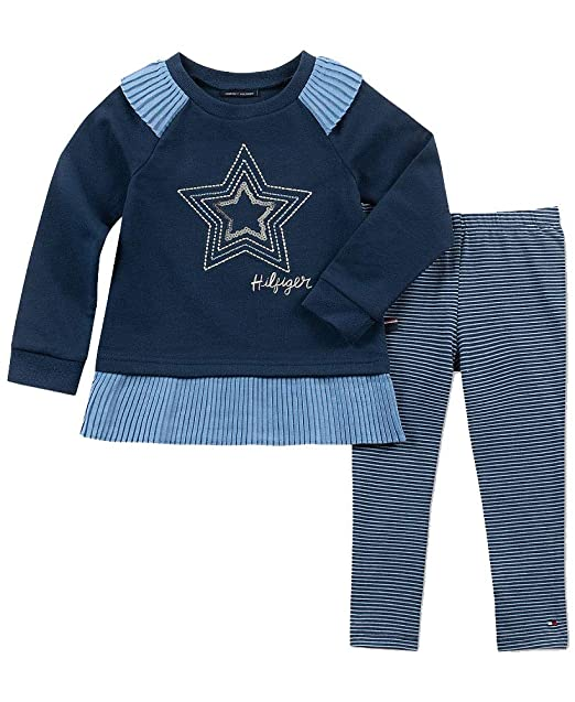 Tommy Hilfiger Baby Boys 2 Piece Cardigan and Pant Set