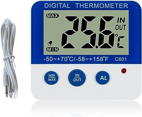 Digital congelador/refrigerador termómetro con imán y Stander ...