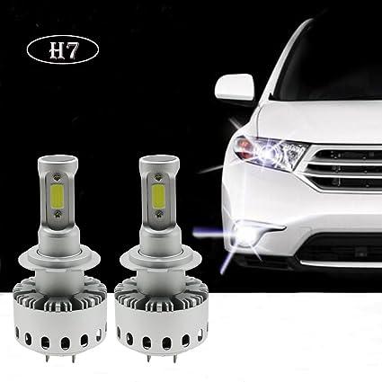 Amazon.com: Ralbay H7 160W 12000LM 6500K COB LED Headlight Bulb Conversion Kit, Cool White: Automotive