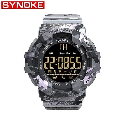 Msxx Reloj Militar De Camuflaje, Reloj ElectróNico Inteligente para Los Entusiastas del Combate TáCtico Militar
