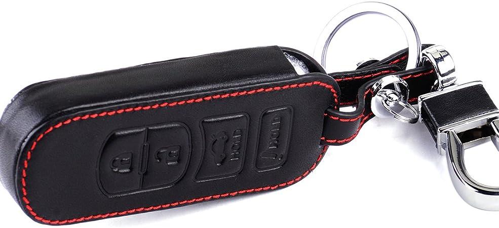 Beler Leder 4 Tasten Fernbedienung Schlüssel Hülle Gehäuse Halter Auto