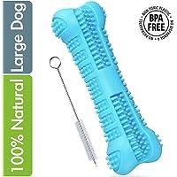 MG+ Cepillo de Dientes para Perros Dog Brushing Stick Limpieza de higiene Dental Cuidado Oral para Mascotas Juguete para Masticar Regalo de Amante de los Animales no tóxica (Large, Azul)