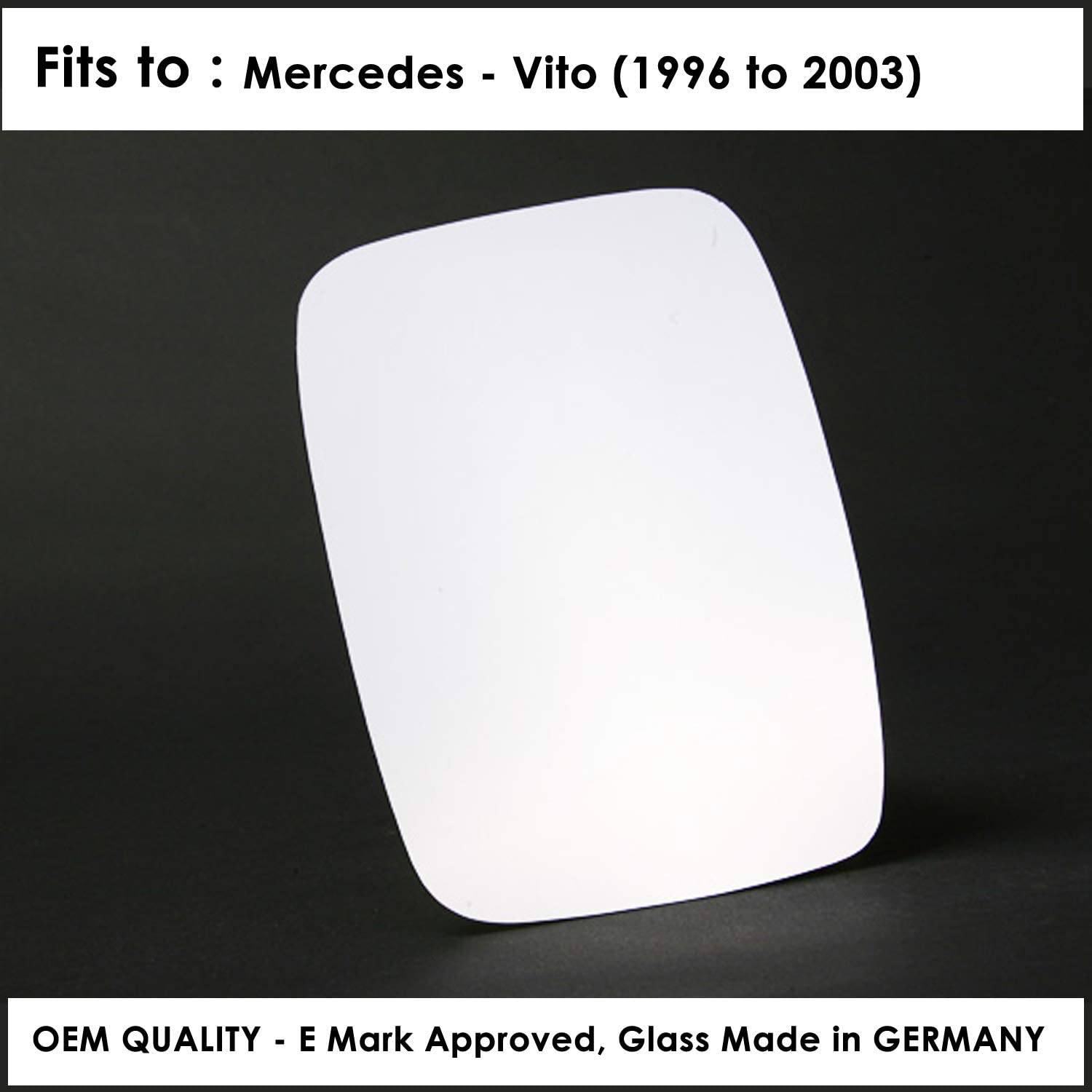 Year 1996 To 2003 W638 Right Hand Side Door Mirror Glass Convex For MERSD-Vito