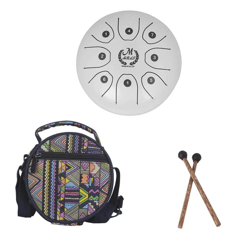 ELEC TECH Steel Tongue Drum Drum Carefrees 5.5 Inch Mini Drum Tambour Steel Drums Forgotten (with 2 Sticks + 1 Drum Kit) by ELEC TECH