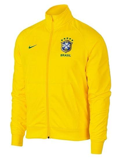 29ffdecc9192 Amazon.com   Nike Men s Brazil Track Jacket   Sports   Outdoors