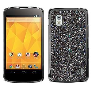 For LG Google NEXUS 4 / Mako / E960 Case , Metal Sparkly Scraps 3D Bling - Diseño Patrón Teléfono Caso Cubierta Case Bumper Duro Protección Case Cover Funda
