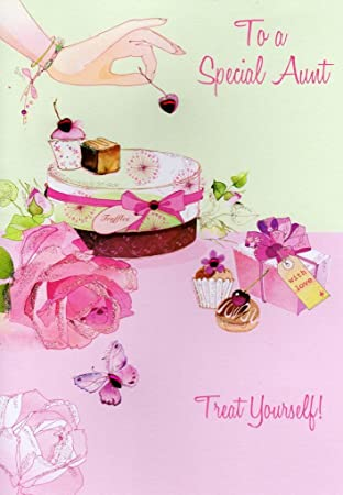Special Aunt Birthday Card Water Colours By Second Nature Greeting Cards