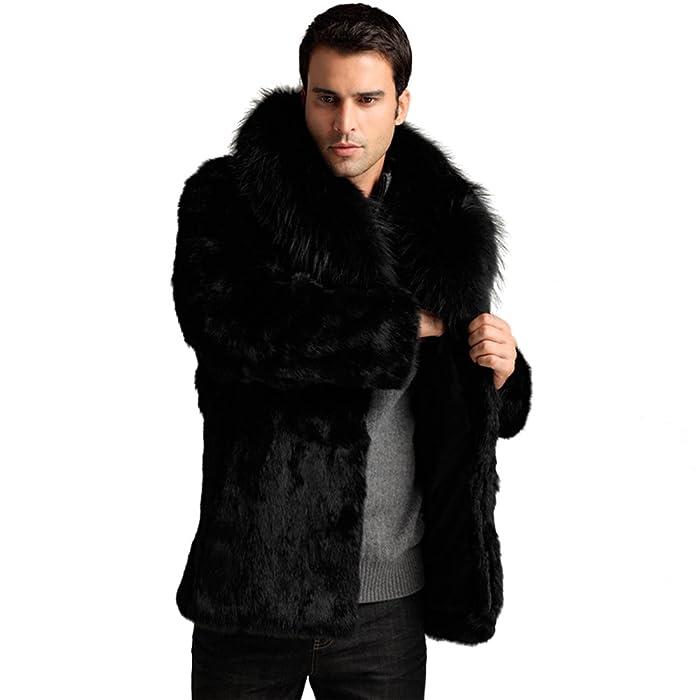 JTENGYAO Mens Faux Fur Coat Outerwear Winter Jacket at Amazon ...