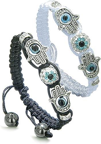 Set of 2 Evil eye charm bracelet for men for women Couples bracelet Wish bracelet Protection Boho string bracelet Unique girlfriend gift