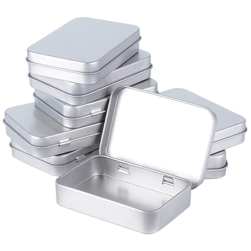 Silber Kleine Metall Dose 9 1 X 7 0 X 1 7 Cm Kartendose Für