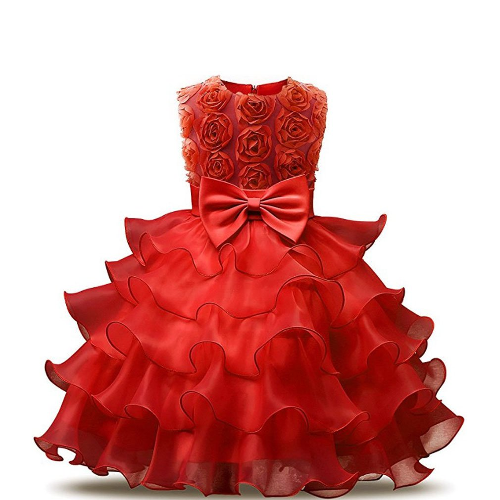 7fd62221d13 Liouliu Princess Party Dress Flower Girl Dress Kids Ruffles Lace Wedding  Gown