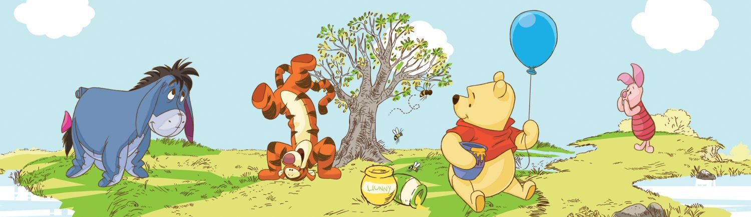 Graham & Brown kids@homeIII Frise en polypropylè ne Winnie l'Ourson Pooh a bother free day 42424