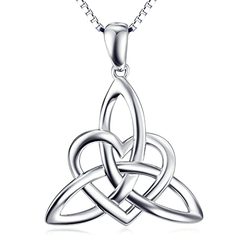 Amazon sterling silver irish celtic knot triangle lover heart sterling silver irish celtic knot triangle lover heart shaped pendant necklace 18quot aloadofball Image collections