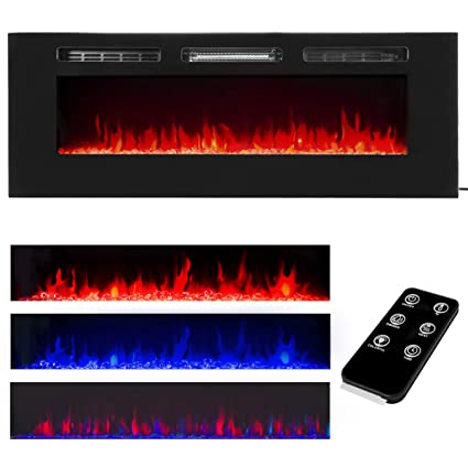 recessed electric fireplace wall xtremepowerus 50