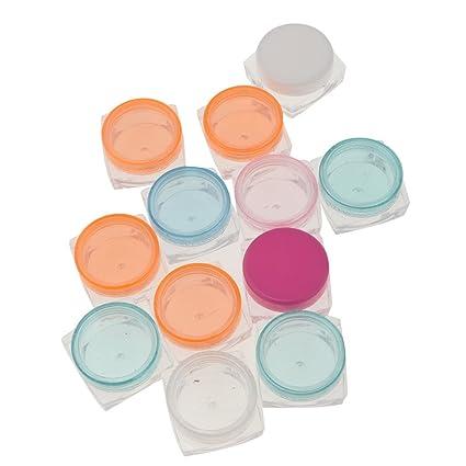 Homyl 20 unds Cajas para Crema Polvo Maquillaje Salón de Belleza de multicolor - Aleatorio 5g