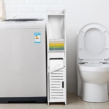 80 * 15.5 * 15.5CM Gabinete de Muebles para Cuartos de Baño y Lavaderos Alacena Estante de Almacenamiento de Tejido para Lavandería: Amazon.es: Hogar