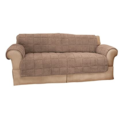 Miles Kimball Waterproof Quilted Sherpa XL Sofa Protector OakRidgeTM