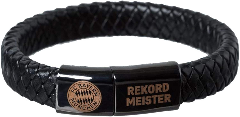 pulsera bransoletka FC Bayern M/ünchen Lederarmband Rekordmeister Armband Bracelet