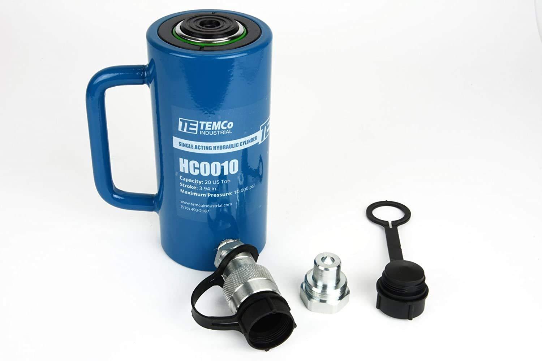 Mophorn 30T 4Inch Hydraulic Cylinder Jack Hollow Single Acting Hydraulic Ram Cyl