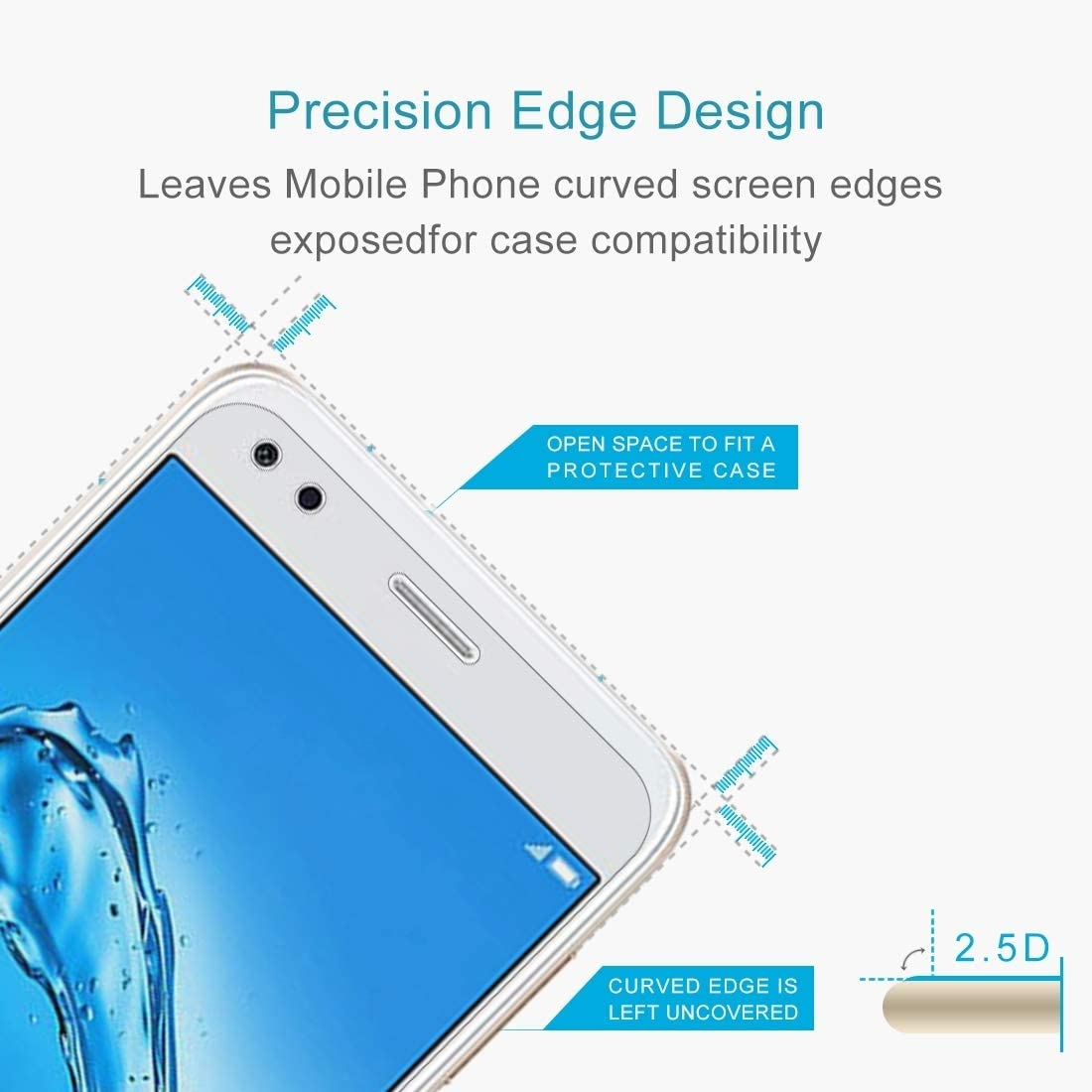 0.26mm 9H Surface Hardness 2.5D Curved Edge Tempered Glass Screen Protector Tempered Glass Film XHC Screen Protector Film 100 PCS for Huawei Y6 Pro 2017