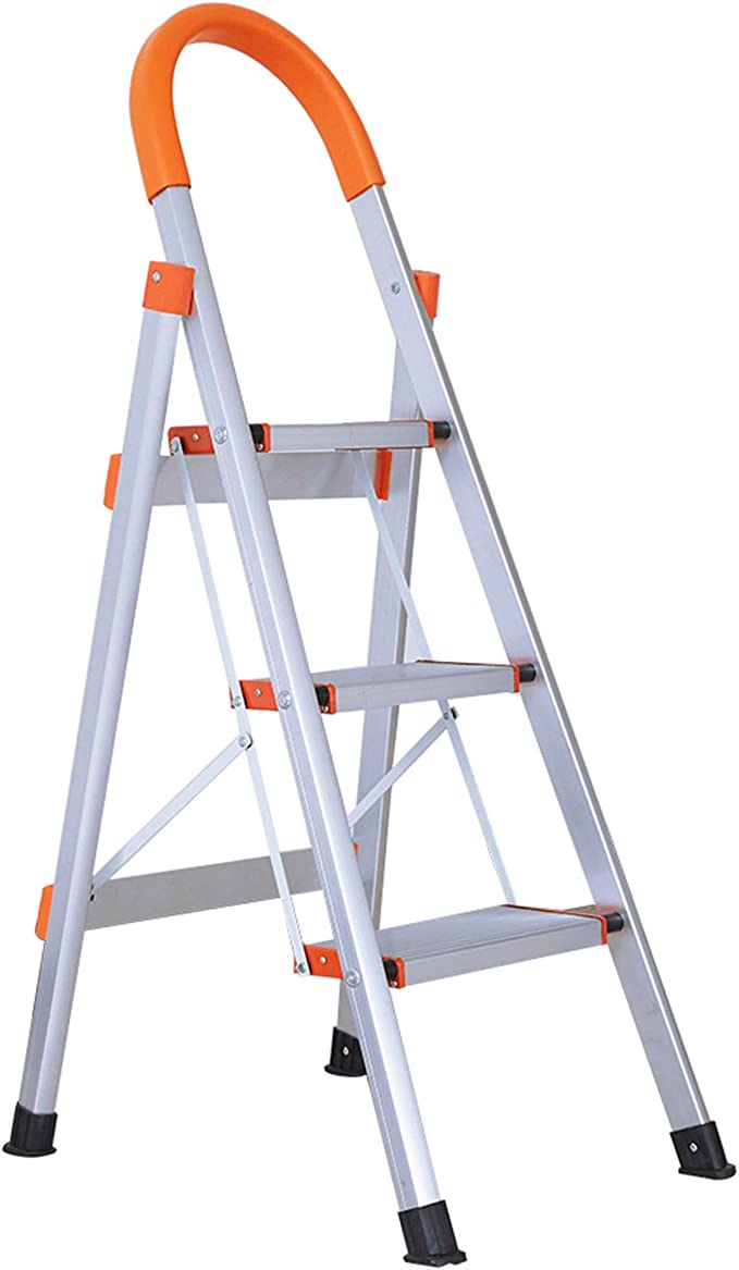 330 lbs Sturdy Ladders for Home Office /& Garage Increased Safety with Anti-Slip Wide Treads /& Feet SUMEID Step Ladder Folding Step Stool with Comfort Handgrip Lightweight /& Compact 2 Step