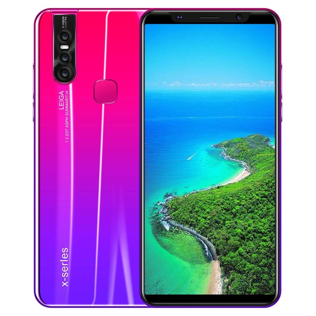 32GB Unlocked GSM 3G LTE Android9.1 Smartphone /Dual SIM Card 8 Core 6.3'' HD Screen Smartphone (Red) by QYuan