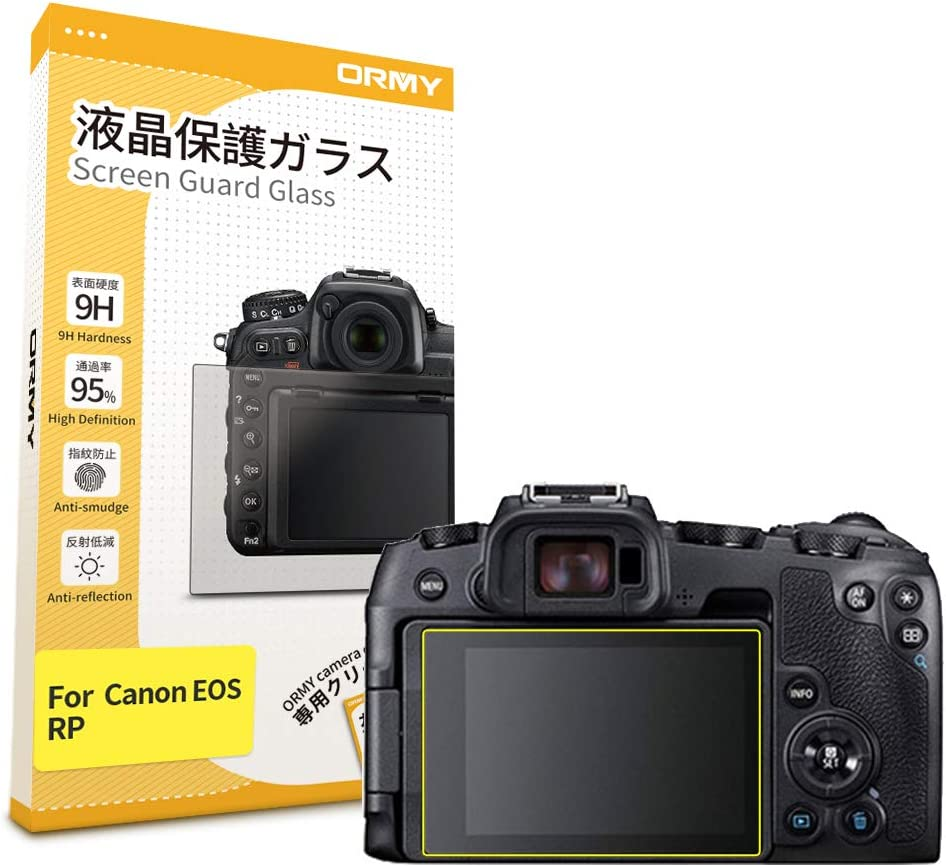 Ultra-thin, High Definition, 9H Hardness, Japanese Film for Top Screen ORMY Tempered Glass Camera Screen Guard for Canon EOS R5