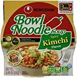 Nongshim Bowl Spicy Kimchi Noodle Soup, 3.03 Ounce (Pack of 12)