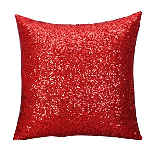 Tenworld Glitter Sequins Throw Pillow Case Cafe Home Decor Cushion Covers (15.7415.74