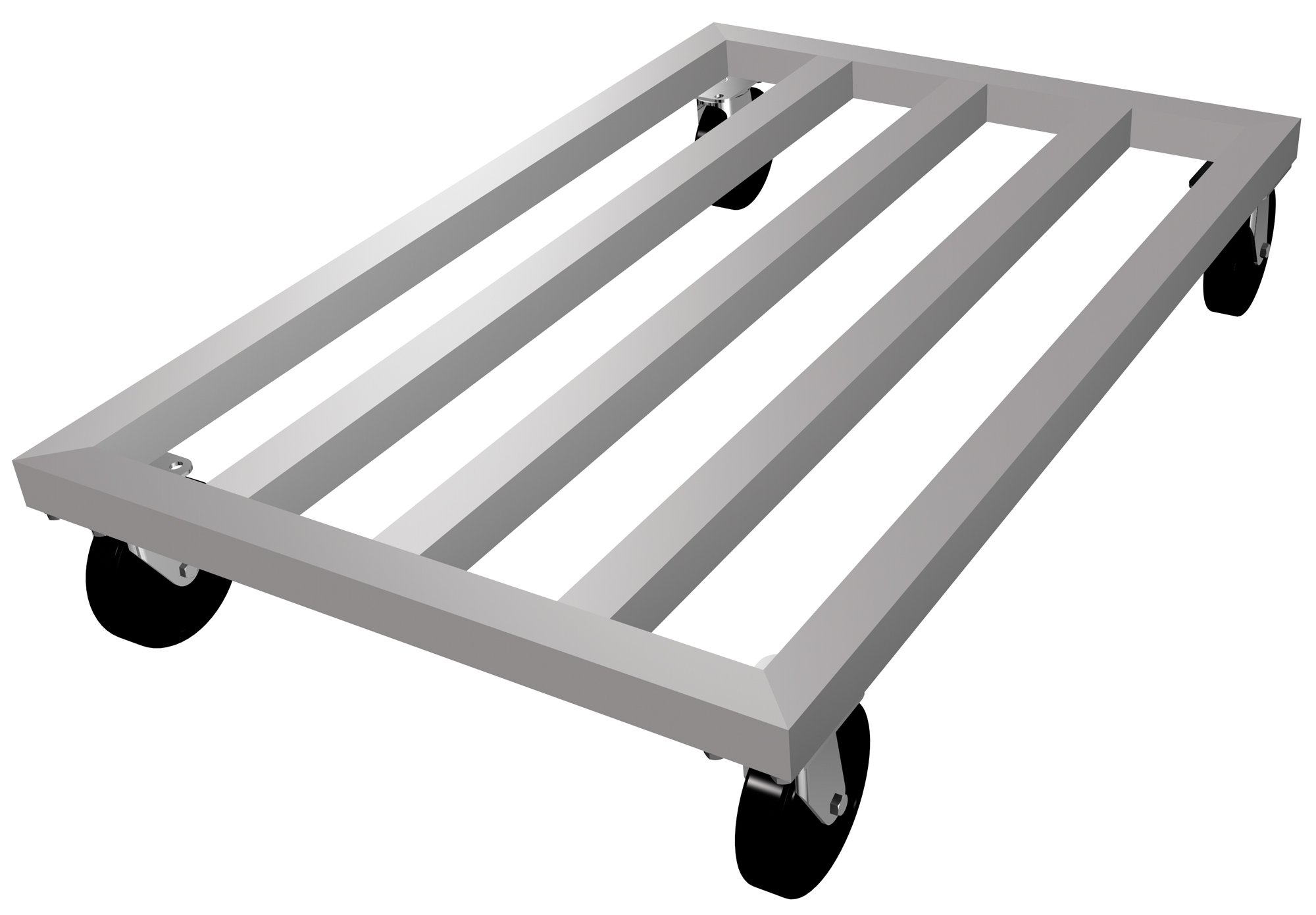 Lockwood MDR-2436-5 Aluminum Mobile Dunnage Rack with Swivel Casters, 1000 lbs Load Capacity, 36'' Length x 24'' Width x 8'' Height