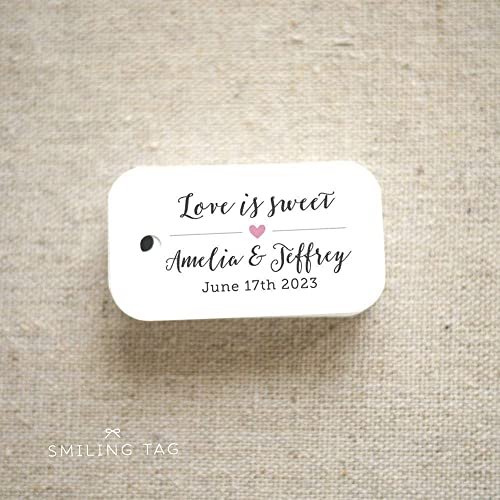 d701a27e49d2 Amazon.com: Love is Sweet Wedding Favor Tags - Personalized Gift ...