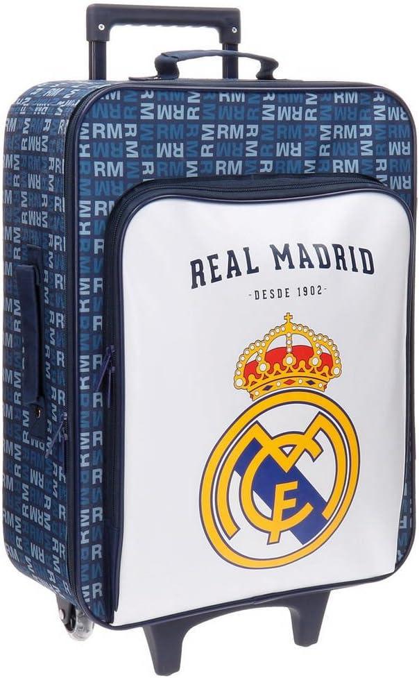 Real Madrid 5649053 Basic Equipaje Infantil, 52 cm, 26 litros, Multicolor