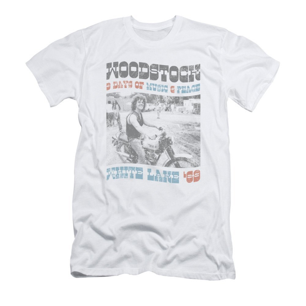 Woodstock Rider Adult Slim Fit T-shirt