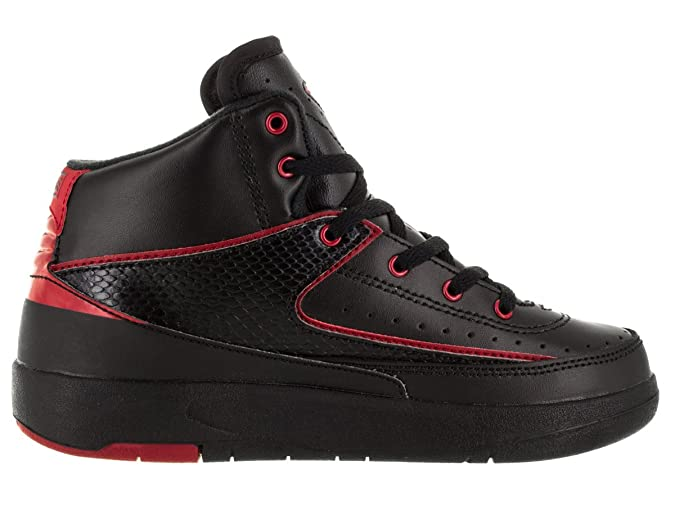 d68fac2a7647f Jordan Nike Boys 2 Retro BP Alternate Black/Varisty Red Leather