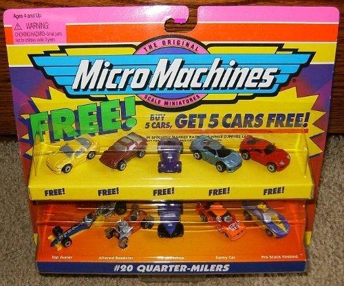 (Micro Machines Quarter Milers #20 Collection w/5 Bonus Cars)