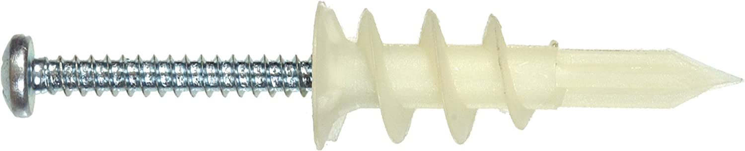 The Hillman Group 9414 Nylon Phillips-Drive Drywall Anchors with Screws