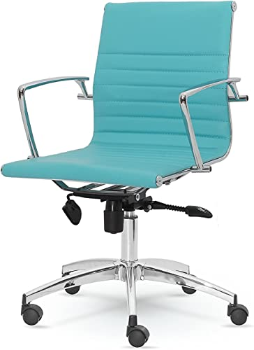 Winport Furniture Mid-Back Leather Office Desk Chair